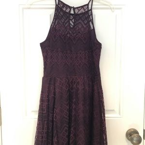 burgundy formal dress. Size S. WORN ONCE!